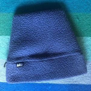 Retro REI Blue Fleece Hat One Size